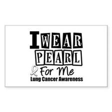 I Wear Pearl For Me LC Rectangle Sticker 10 pk)