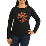Peace Through Commerce Women's Long Sleeve Dark T-