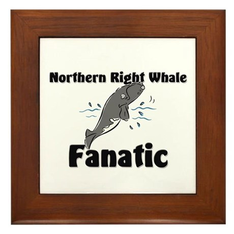 Northern Right Whale Fanatic Framed Tile