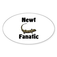 Newt Fanatic Oval Decal