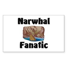 Narwhal Fanatic Rectangle Decal