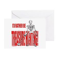 TREASURE HUNTING Greeting Card