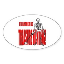 TREASURE HUNTING Oval Decal