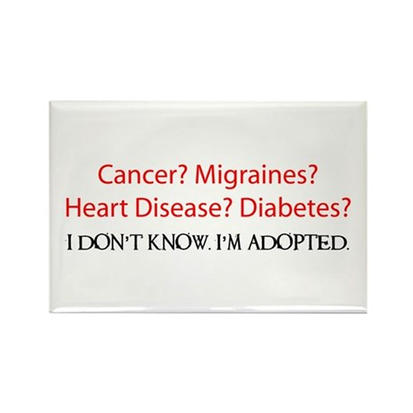 Adopted-I Don't Know Rectangle Magnet (100 pack)