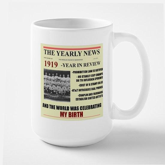 born in 1919 birthday gift Large Mug