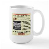 1919 birthday Large Mugs (15 oz)