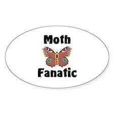 Moth Fanatic Oval Sticker