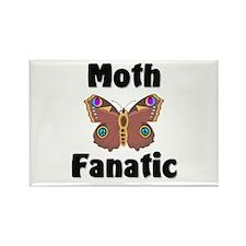 Moth Fanatic Rectangle Magnet