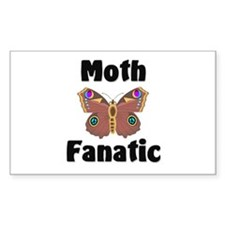 Moth Fanatic Rectangle Sticker