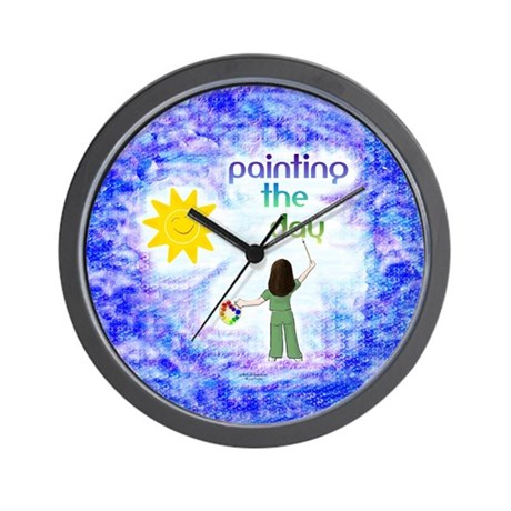 Painting the Day (C) Wall Clock