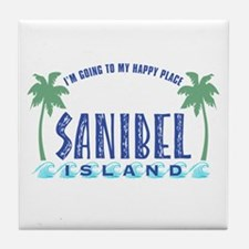 Sanibel Happy Place - Tile Coaster
