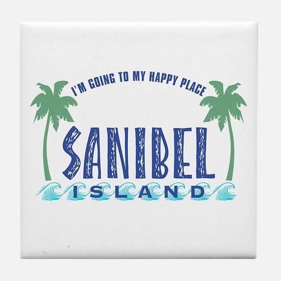 Sanibel Happy Place - Tile Coaster
