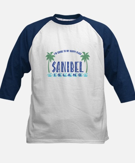 Sanibel Happy Place - Kids Baseball Jersey