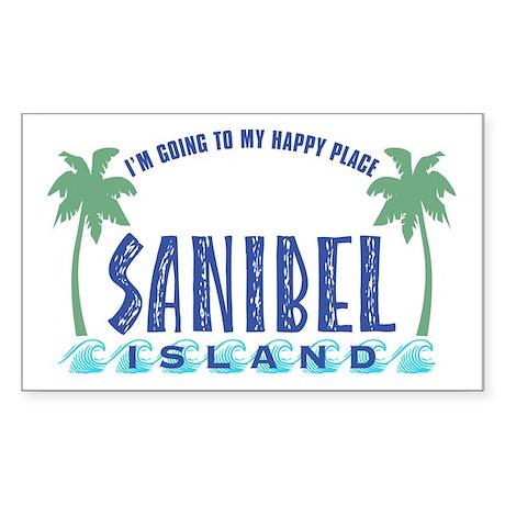 Sanibel Happy Place - Rectangle Sticker
