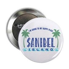 """Sanibel Happy Place - 2.25"""" Button"""