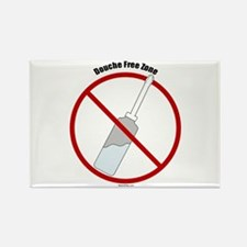 Douche Free Zone Rectangle Magnet