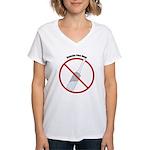Douche Free Zone Women's V-Neck T-Shirt