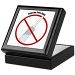 Douche Free Zone Keepsake Box