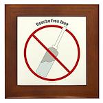 Douche Free Zone Framed Tile