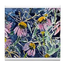echinacea flower art gifts wa Tile Coaster