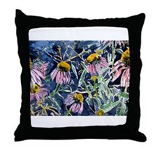 echinacea flower art gifts wa Throw Pillow