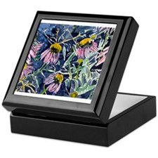 echinacea flower art gifts wa Keepsake Box