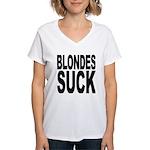 Blondes Suck Women's V-Neck T-Shirt
