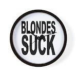 Blondes Suck Wall Clock