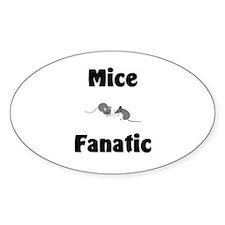 Mice Fanatic Oval Decal