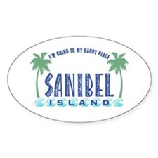Sanibel Happy Place - Oval Decal