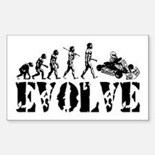 Go-Kart Evolution Rectangle Decal