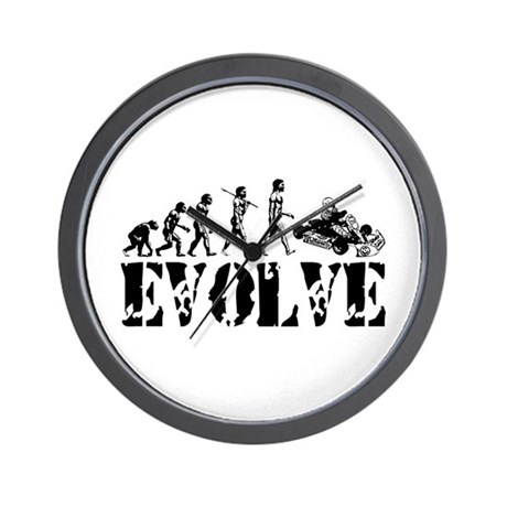 Go-Kart Evolution Wall Clock