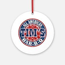 Tim's All American BBQ Ornament (Round)
