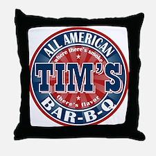 Tim's All American BBQ Throw Pillow