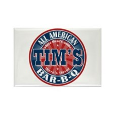 Tim's All American BBQ Rectangle Magnet