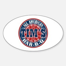 Tim's All American BBQ Oval Decal