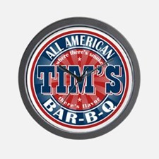 Tim's All American BBQ Wall Clock
