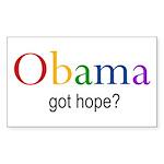 "Obama ""Got Hope"" Rectangle Sticker"