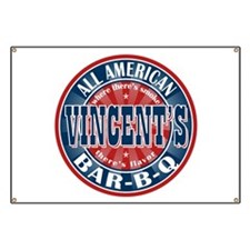 Vincent's All American BBQ Banner
