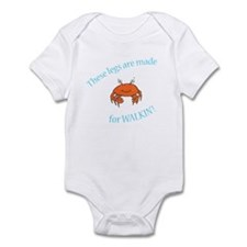 Legs are made for Walkin'! (PETA) Infant Bodysuit