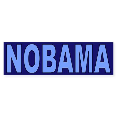 Baby/Dark Blue Nobama Bumper Sticker