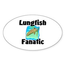 Lungfish Fanatic Oval Decal