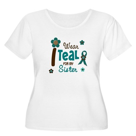 I Wear Teal For My Sister 12 Women's Plus Size Sco