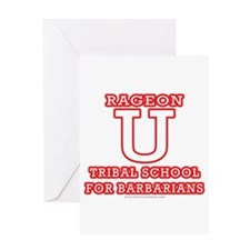 Rageon University Greeting Card