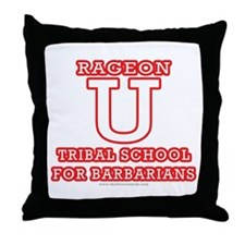 Rageon University Throw Pillow