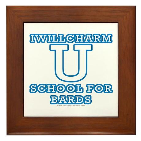 Iwillcharm University Framed Tile
