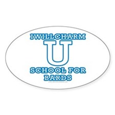 Iwillcharm University Oval Decal