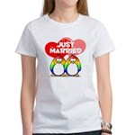 Just Married Rainbow Penguins Women's T-Shirt