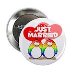 Just Married Rainbow Penguins 2.25