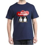Just Married Penguins Dark T-Shirt